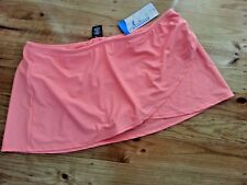 Catalina bright PEACH moch wrap swimsuit bathers swim skirt 3XL 22 - 24