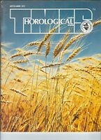 MF-092 - Horological Times Magazine September 1977 Ansonia Swinging Clocks