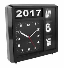 Karlsson Flip Calendar Wall / Table Clock - Black