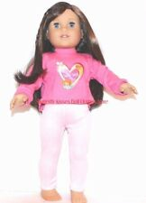 Song Bird Heart T-Shirt+Leggings 18 in Doll Clothes Fits American Girl Dolls