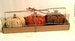 3 Pc Fall Braided Pumpkins