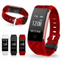 Heart Rate +Sports Activity Smart Watch Sleep Pedometer Bracelet Tracker Fitness
