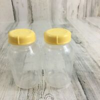 Medela 2 Bottles Caps 5 oz Breast Milk Collection Breast Pump Storage Unused