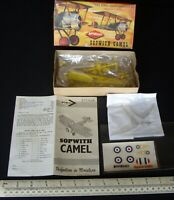 Sopwith Camel British WW1 Fighter. Vintage 1960s KeilKraft Plastic Kit.