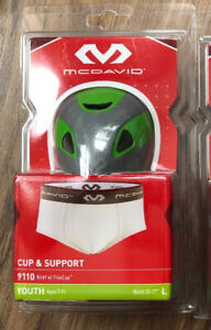 """MCDAVID 9110 Brief Athletic Supporter Jock Strap With FlexCup 25""""-27"""" L Age 7-12"""
