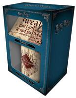 Harry Potter (Marauders Map) Mug Coaster & Key Chain Ring Gift Set GP85145