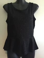 BNWT – Hot Options - Black Sparkle Top with Back Bow - Size 12 - RRP $29.00