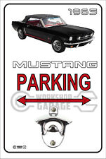 Wall Mount Bottle Opener Metal Sign - MUSTANG BLACK CONVERTIBLE 1965 - 06