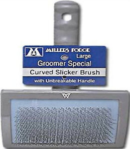 Millers Forge Stainless Steel Pins Universal Curved Pet Slicker Brush with