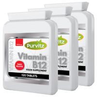 Vitamine B12 Méthylcobalamine 1000mcg 360 Comprimés Grande Force Immunitaire