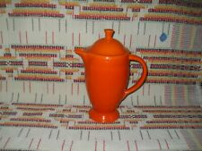 """RADIOACTIVE RED"" FIESTA COFFEE SERVER & LID -FIESTAWARE  -               Jh5"