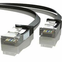 Mr. Tronic 10m Ethernet Network Patch Cable Flat | CAT7, SFTP, CCA, RJ45 (10 ...