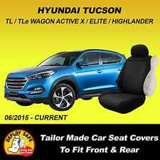 Car Seat Covers For HYUNDAI TUCSON Front & Rear 06/2015 - Current Airbag Safe!