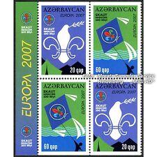 Aserbaidschan Azerbaijan Europa CEPT 2007, Pfadfinder, teilgezähnt ** postfrisch