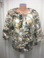 Coldwater Creek Womens Jacket Zip Lined splash Floral Cotton spandex Size W18