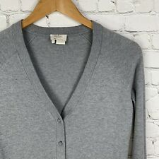 Women's Kate Spade (XS) Gray Cotton Viscose Cashmere Blend Cardigan