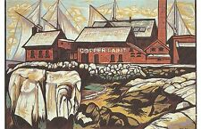 Postcard Don Gorvett Manufactory Shoreline Copper Paint Bldg Gloucester MA MINT