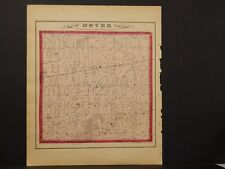 Michigan, Lenawee County Map, 1874 Township of Dover Double Sided K3#51
