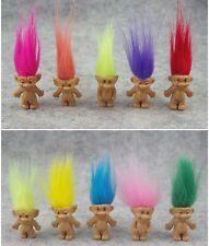 "10Pcs/lot Random vintage trolls Lucky Doll Mini Figures Toy 1"" cake toppers"