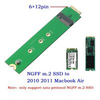 6+12 pin M.2 SSD Adapter Card for 2010-2011 MACBOOK Air A1369 A1370