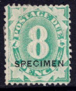 Australia eightpence postage due stamp with Specimen overprint
