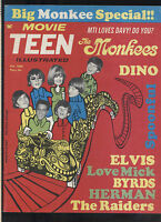 Movie Teen Illustrated Feb 1968 Monkees Byrds the Doors Hayley Mills  MBX101