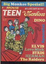 Movie Teen Illustrated Feb 1968 Monkees Byrds the Doors Hayley Mills  MBX101