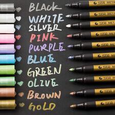 Metallic Marker Set 10 Farben Metallische Stifte Pens DIY Fotoalbum Geschenk