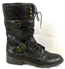 New Authentic Guess Short Boots By Marciano Better Dar Brown Faux Leather Size 9
