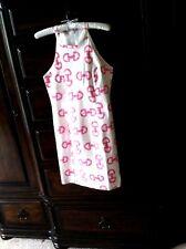 Skirtin Around Pink & White Horse Bit Pattern Dress  4