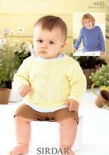 4430 Sirdar Snuggly Baby Bamboo DK Boys Baby Sweater Knitting Pattern