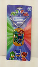 ENTERTAINMENT ONE PJ MASKS DOGTAG NECKLACE WITH 3 CHARACTERS 100% ORIGINAL L@@K