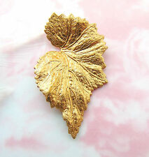 BRASS LEAF Stamping - Jewelry Woodland Finding (FB-6037-538)