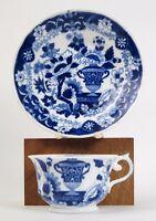 Hilditch Blue pattern tea cup and saucer c1825