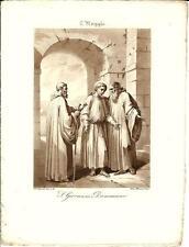 Stampa antica SAN GIOVANNI DAMASCENO Bigioli 1839 Old antique print