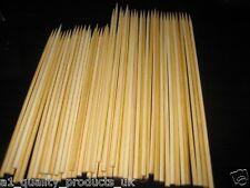 "100 x Wooden Skewers, 8"" 20cm, HEAVY DUTY, Grill BBQ Kebab Bamboo Sticks BNIB"