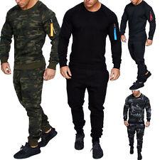 Herren Cargo Stil Sportanzug Jogginganzug Trainingsanzug Sporthose+Pullover 1004