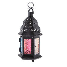 Metal Castle Votive Candle Tea Light Holder Wall Pendant Lantern Candlestick