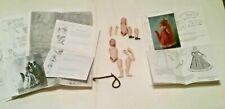 Dollhouse Miniature Artisan Porcelain Doll Kit Man & Woman, patterns & direction