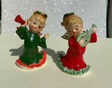 New ListingPair of Vintage Lefton Christmas Musical Angels Japan Matching #'s 2543 Figurine