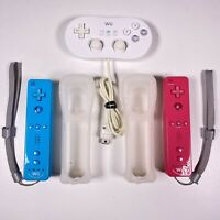 Nintendo Wii Motion Blue & Pink & Classic Controller Tested EUC