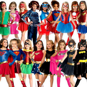Girls Superhero Fancy Dress Childrens Childs Movie Book Character Kids Costume
