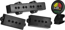 DiMarzio DP126 model P + J Neck & Bridge (set) Black Bass Pickups w/ Tuner