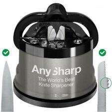AnySharp PRO Silver Metal Body Precision Kitchen Knife Sharpener - 100% Genuine