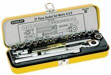 """Stanley 21pce Combo AF & Metric Socket Set 1/4"""".   #89.507"""
