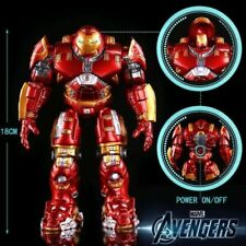 Avengers 2 Iron Man Hulkbuster Armor Joints Movable 18CM Mark With LED Light PVC