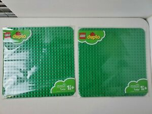 LOT of 2 LEGO 2304 Duplo Large Green Building Plate 24x24 New Free Shipping