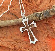 Koa Wood Cross Pendant-Sterling Silver-Hawaiian,Wood Jewelry,Gift Idea,Fashion