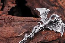 Fashion Men's Flying Dragon Sword Titanium Stainless Steel Pendant Necklace BUAU