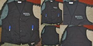 Best Medical Workers Vest Massachusetts General Hospital Food Service Sz S to 2X